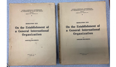 UN documents donated by Jim Sarro (Photo: Department of Operational Support)